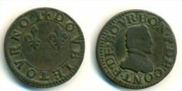 1603-05 France 2 Tournois Coin - 987-1789 Monete Reali