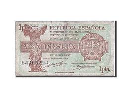 Espagne, 1 Peseta, 1937-1938, KM:94, 1937, TB - [ 3] 1936-1975 : Régence De Franco