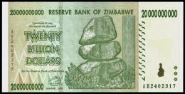 Zimbabwe 20 Billion Dollars 2008 P 86 UNC  ( Zimbabue  ) - Zimbabwe