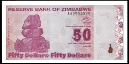 Zimbabwe 50 Dollars 2009 P 96 UNC ( Zimbabue  ) - Zimbabwe