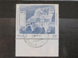 ITALIA USATI 2001 - ABBAZIA SANTA MARIA IN SYLVIS - RIF. G 1808 LUSSO - 6. 1946-.. Repubblica