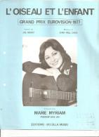 L'oiseau Et L'enfant. Marie Myriam. - Partitions Musicales Anciennes