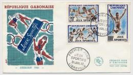 GABON => Enveloppe FDC => Jeux Sportifs D'Abidjan 1962 - LIBREVILLE - 21 Juillet 1962 - Gabon (1960-...)