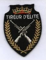 "Ecusson Tissu Brodé ""TIREUR D´ELITE"" Militaire - Ecussons Tissu"