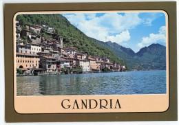GANDRIA - Lago Di Lugano - Cantone Ticino - Svizzera - Panorama - écrite Pour Un Usage Autre - 2 Scans - TI Tessin