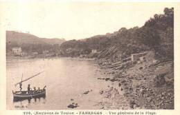 CPA - ENVIRONS DE TOULON - FABREGAS - VUE GENERALE DE LA PLAGE - 226 - B. S.  BARQUE - Otros Municipios