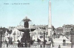 CPA - PARIS - LA PLACE DE LA CONCORDE - - Francia