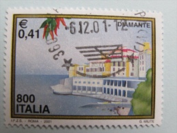 ITALIA USATI 2001 - Turistica DIAMANTE  - RIF. G 1824 LUSSO - 6. 1946-.. Repubblica