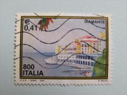 ITALIA USATI 2001 - Turistica DIAMANTE  - RIF. G 1825 LUSSO - 6. 1946-.. Repubblica