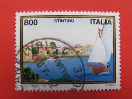 ITALIA USATI 2001 - Turistica STINTINO  - RIF. G 1826 LUSSO - 6. 1946-.. Repubblica