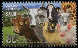 Mexico (2015) - Set -  /  Bee - Honey - Farm - Grange - Cow - Pig - Vache - Chevre - Ram - Messico