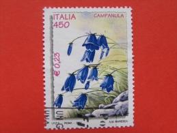 ITALIA USATI 2001 - L´ambiente E La Natura CAMPANULA  - RIF. G 1829 LUSSO - 6. 1946-.. Repubblica