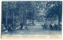 GRÉOUX-les-BAINS En 1924 - Grand Hôtel Des Bains - Les Terrasses - écrite Timbre Enlevé - 2 Scans - Autres Communes