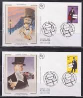 = Héros Roman Policier Enveloppes 1er Jour 44 Saint Nazaire 5.10.96 N°3025 à 3030 Rocambole Lupin Maigret Burma Fantômas - 1990-1999