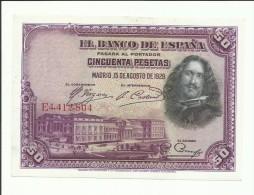 50 PESETAS 1928 - [ 1] …-1931 : Primeros Billetes (Banco De España)