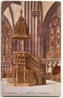 STRASBOURG - La Chaire De La Cathédrale - Colorisée - Non écrite - 2 Scans - Strasbourg