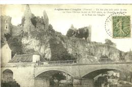 Angles Sur L'Anglin. Le Pont Sur L'Anglin,Le Château La Chapelle Et Le Moulin. - Frankreich