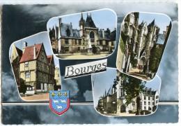 BOURGES - Maison Du XVIe S. - Hôtel Jacques-Cœur - Cathédrale - Hôtel Des Postes - Dentelée Non écrite - 2 Scans - Bourges