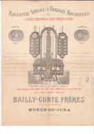 39.- MOREZ- DU-JURA .- BAILLY-COMTE FRERES .- Manufacture Spéciale D' Horloges Monumentales - Artigianato