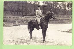 Epinal : Le Lieutenant Besant Du 17e (Bataillon De Chasseurs à Pied ?). Cheval . 2 Scans. Carte Photo Maillet à Epinal - Epinal