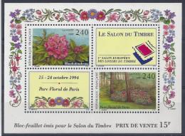 BLOC N° 15 - NEUF SANS CHARNIERE - LUXE - PARC FLORAL - Blocs & Feuillets