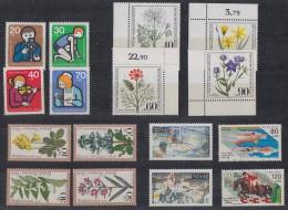 Berlin Lot 1 Zuschlagmarken 5 Sätze Postfrisch, Gestempelt Ansehen !!!!!!!!!!!! - Lots & Kiloware (max. 999 Stück)