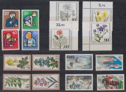 Berlin Lot 1 Zuschlagmarken 5 Sätze Postfrisch, Gestempelt Ansehen !!!!!!!!!!!! - Briefmarken