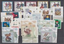 Bund Lot 11 Postfrisch 21 Zuschlagmarken, 4 Komplette Sätze - Lots & Kiloware (max. 999 Stück)