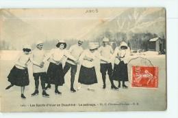 Sports D' Hiver - Les Alpes - Le PATINAGE - Superbe Plan -  2 Scans - Sports D'hiver
