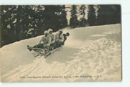 Sports D' Hiver - Les Alpes - En Bobsleigh - Superbe Plan -  2 Scans - Sports D'hiver