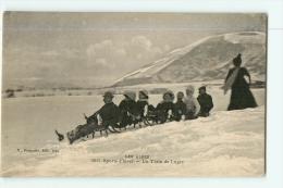 Sports D' Hiver - Les Alpes - Un Train De Luge - Superbe Plan -  2 Scans - Sports D'hiver