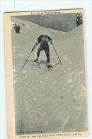 Sports D' Hiver - Les ALPES - COL D' IZOARD - Montée D'un Skieur En Ciseau -  2 Scans - Sports D'hiver