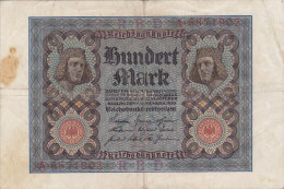 Hundert 100 Mark 1920 - [ 3] 1918-1933 : Repubblica  Di Weimar
