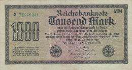 Tausend 1000 Mark 1922 - [ 3] 1918-1933 : Repubblica  Di Weimar