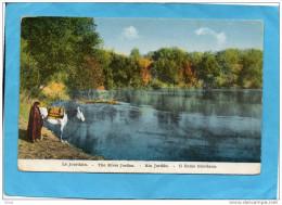 PALESTINE-rives Du Jourdain-cavalier Abreuvant Son Cheval -beau Plan     -années 1900-10 - Palestine