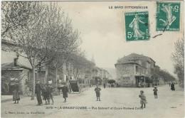 Gard : La Grand Combe, Place Salavert Et Cours Richard-Colon, Tres Belle Carte Animée - La Grand-Combe
