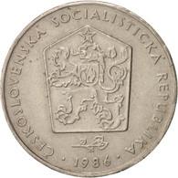 Czechoslovakia, 2 Koruny, 1986, TTB, Copper-nickel, KM:75 - Tchéquie