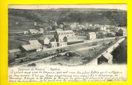 LA GARE Des Chemins De Fer Avec Train SOUVENIR HAMOIR - Circulée : 1903 - STATION Met Trein    I31 - Hamoir