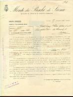 MONTE DEI PASCHI DI SIENA, 1940, LETTERA , DIRETTORE VALIANI, - Historische Dokumente