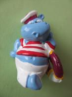 Figurines Jouets Bandes Dessinées BD Figurine 4 Cm HIPPOPOTAME Signé FERRERO 1992 Dessins Animés Animaux Marin - Figurines