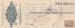 Lettre Change 20/4/1922 FRECHOU MOUCHET Fleurs Artificielles TOULOUSE Haute Garonne Pour Mont De Marsan Landes - Lettres De Change
