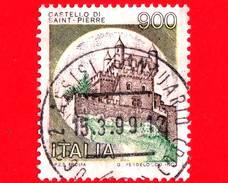ITALIA - Usato - 1980 - Castelli D´Italia - 900 L. • Castello Di Saint-Pierre, Ad Aosta - 6. 1946-.. República