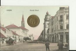 OS125   --   OSIJEK,  ESSEGG   --  WITH SYNAGOGE  --  1917 - Kroatien
