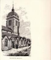 Gravure Sur Bois - 1904 - Morteau - L'église (Doubs) - Eugène Sadoux - FRANCO DE PORT - Estampes & Gravures