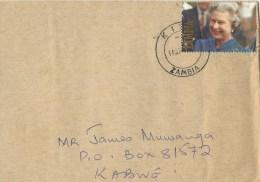 Zambia 1993 Kitwe Queen Elisabeth II Jubilee K50 Domestic Cover - Zambia (1965-...)