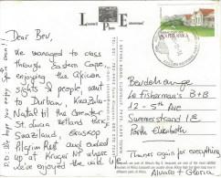 South Africa RSA 2001 Kruger National Park Cheetah Robben Island Stamp Booklet Stamp Viewcard - Zuid-Afrika (1961-...)