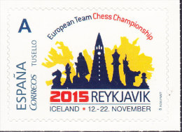 SELLO PERSONALIZADO 2015 REYKJAVIK (ICELAND). NOVIEMBRE 2015 - TEMA AJEDREZ CHESS ÉCHECS SCHACH - Ajedrez