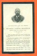Image Pieuse De Deçés - Joseph Mondon Decedé à Ancy Sur Moselle Le 11/01/1906 - 2 Scans - Obituary Notices