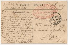 LIBOURNE, Gironde, SSBM, CROIX ROUGE FRANCAISE, Comité. - Postmark Collection (Covers)