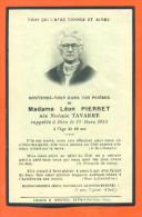 Image Pieuse De Deçés - Madame Léon Pierret Née Tavare Le 12/03/1948 - 2 Scans - Décès